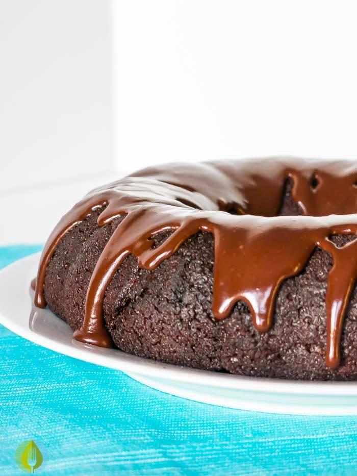 Double Chocolate Glazed Donut Cake | www.infinebalance.com #recipe