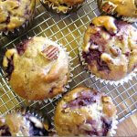 vegan raspberry muffins with pecans