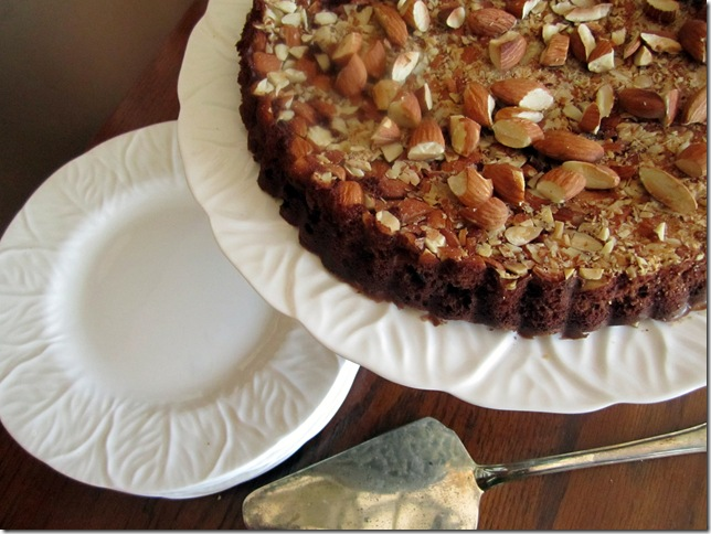 chocolate almond tart