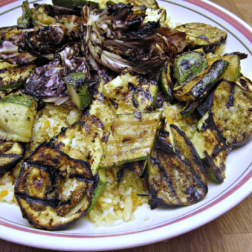 Grilled Vegetables and Fried Quinoa   www.infinebalance.com