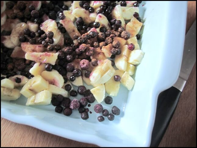 banana and blueberry oatmeal 1