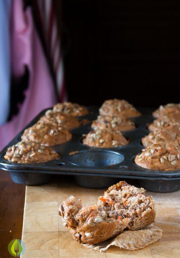 Vegan Carrot Muffins | Infinebalance.com #recipe #lunch