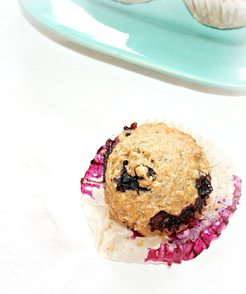 Quinoa Muffins with Blueberry and Chia Seed| www.infinebalance.com #recipe #vegan