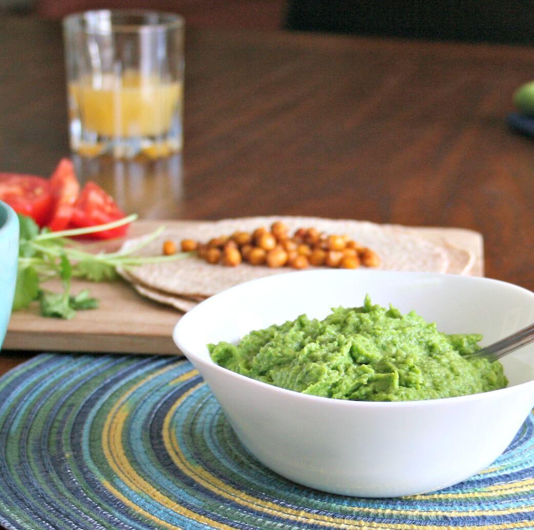 Green Pea Guacamole. A lighter Guacamole | www.infinebalance.com
