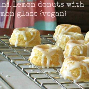 vegan lemon donuts   www.infinebalance.com