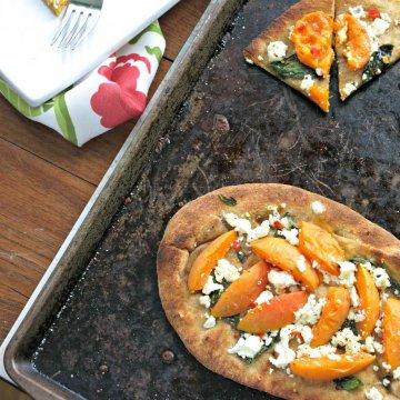 apricot and feta flat bread