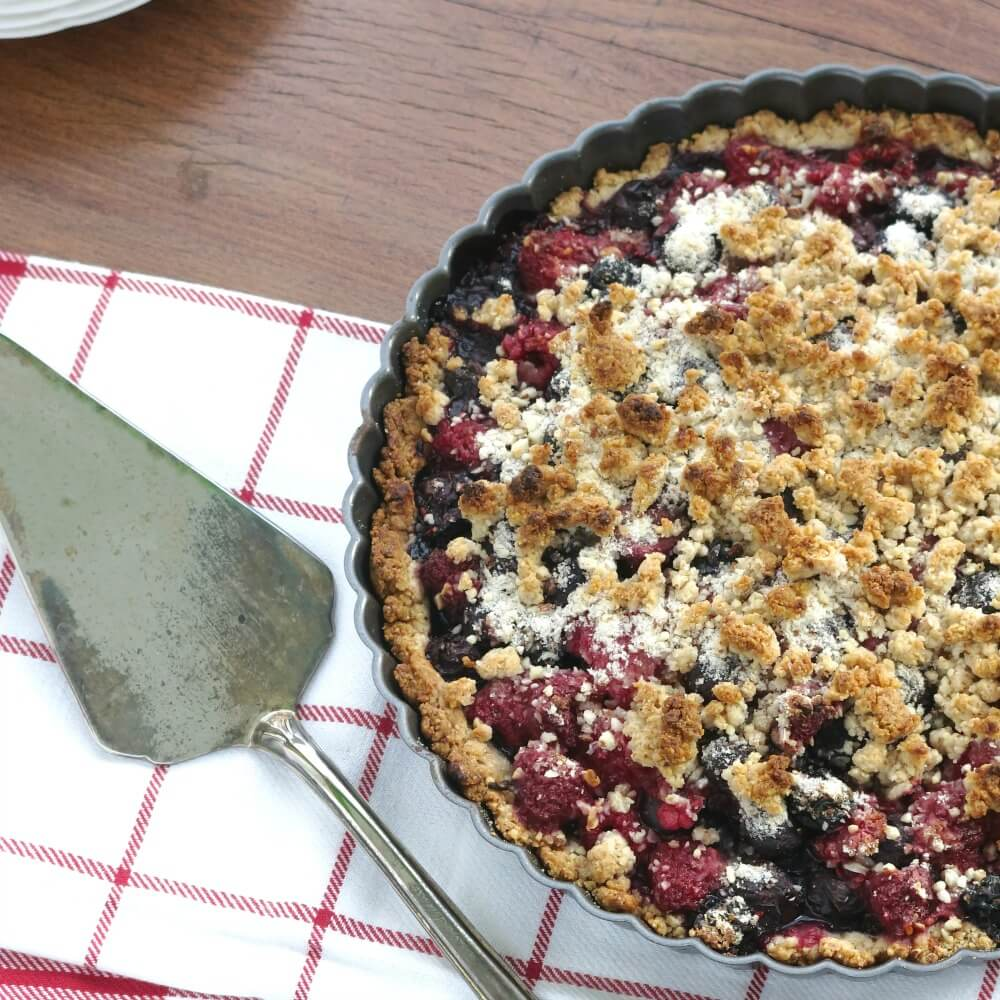 Vegan Berry Almond Tart