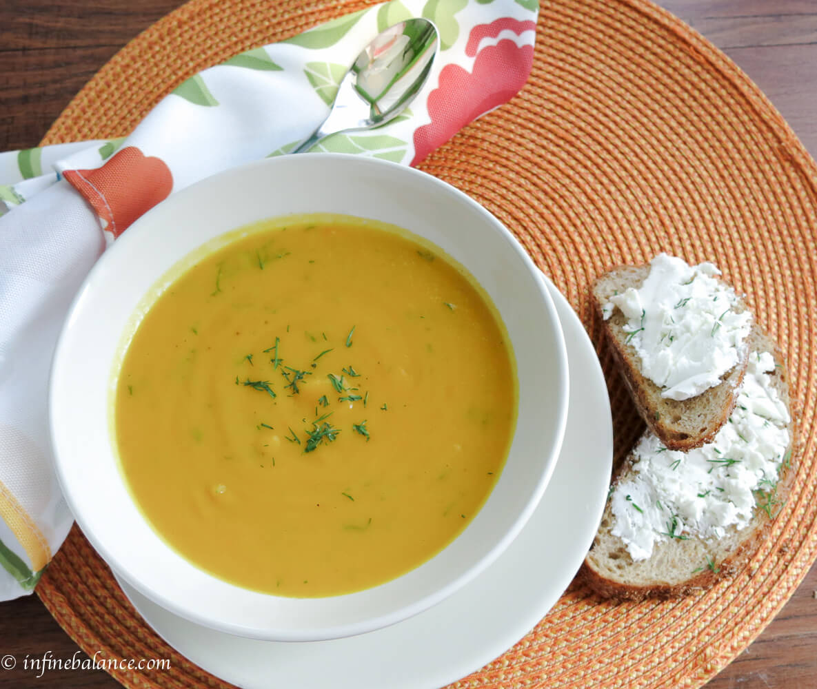 Carrot and Sweet Pepper Soup | The infinebalance Food Blog #vegan #soup