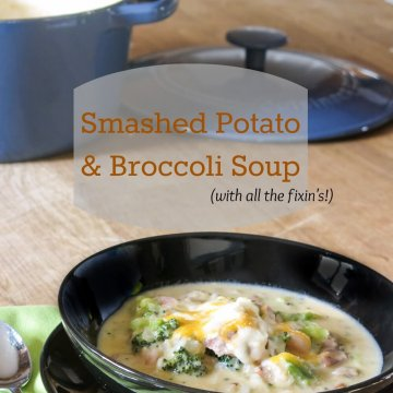 smashed potato and broccoli soup   www.infinebalance.com
