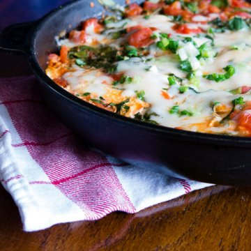 Skillet Eggs with Spinach and Tomato | Infinebalance.com