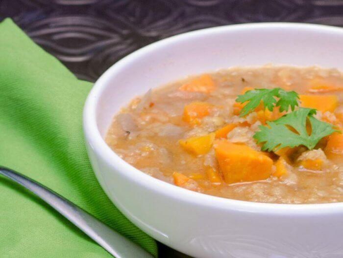 sweet potato soup with lentils