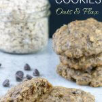 chocolate chip cookies with flexseeds and oats