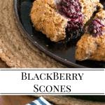 vegan blackberry and walnut scones