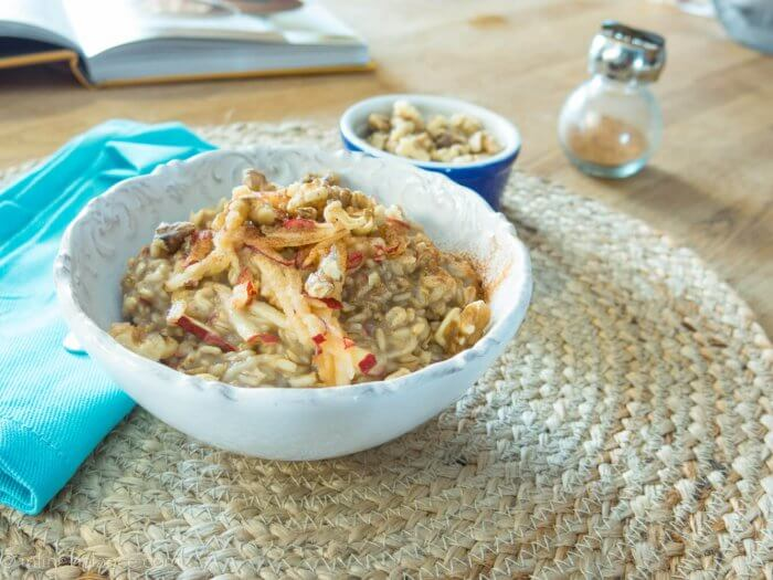 Whole oats with apple and cinnamon | infinebalance