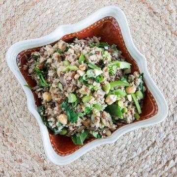 Mushroom Fried Quinoa   www.infinebalance.com #recipe #meatlessmonday