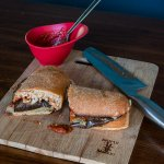 Eggplant Parm Pizzaburgers   www.infinebalance.com #meatlessmondays