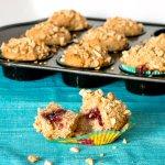 Peanut Butter and Jelly Muffins | www.infinebalance.com #muffin #recipe