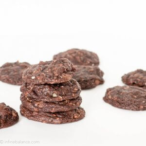 over stuffed chocolate fudge cookies stacked