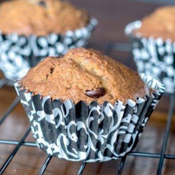 Chocolate Chip Banana Muffins | www.infinebalance.com #recipe #muffin