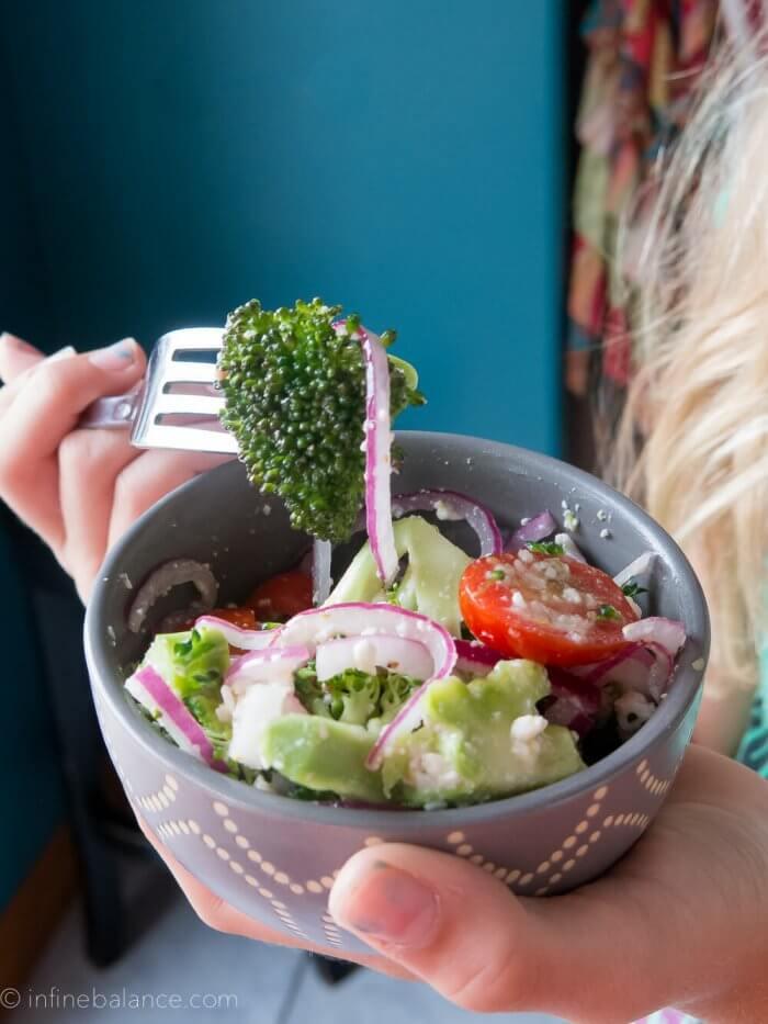 Broccoli and Feta Salad