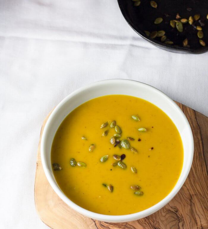 Roasted Butternut Soup with pepitas