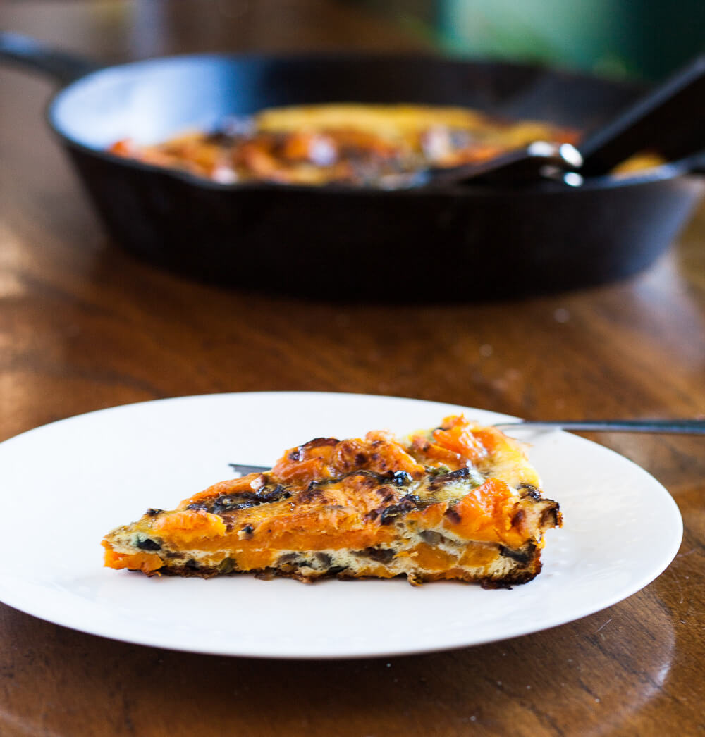 Roasted Sweet Potato Frittata | www.infinebalance.com #recipe