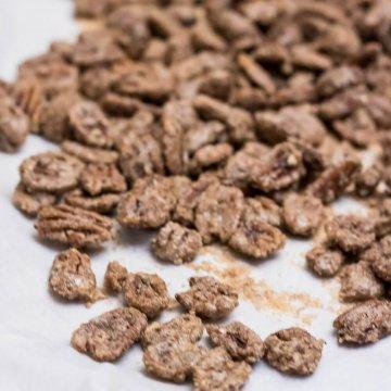 Cinnamon Sugared Pecans | www.infinebalance.com #recipe