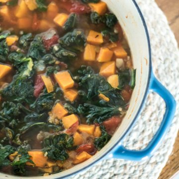 Sweet Potato and Kale Tortilla Soup | www.infinebalance.com #recipe #vegetarian