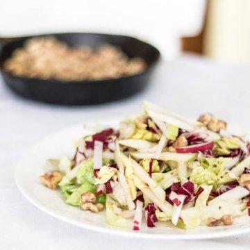Apple and Radicchio Salad with Walnuts | the infinebalance food blog #vegan