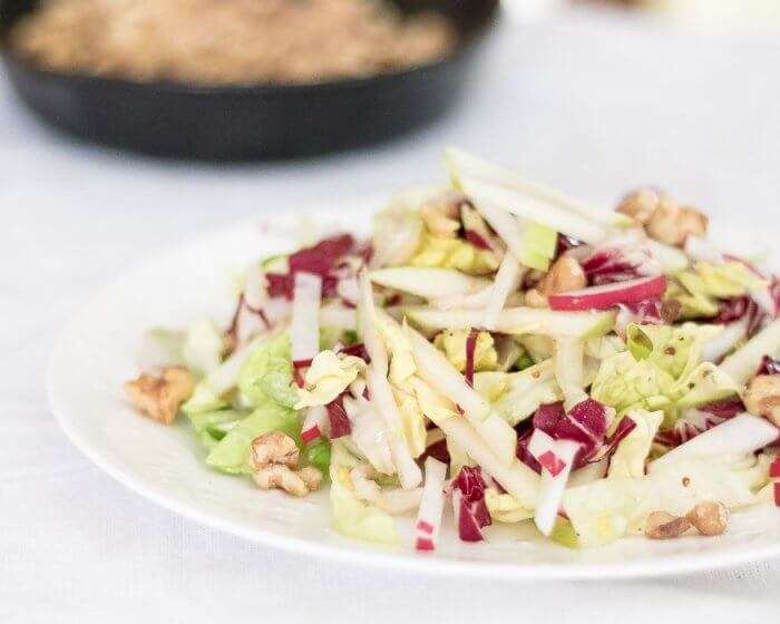 Apple and Radicchio Salad with Walnuts | the infinebalance food blog #vegan