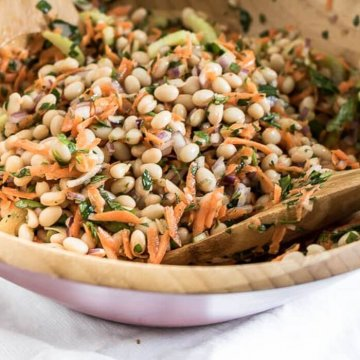 Lemon and Herb Summer Bean Salad - easy make-ahead for BBQs and Summer Potlucks