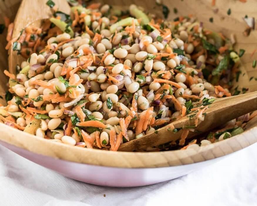 Lemon and Herb Summer Bean Salad - easy make-ahead for BBQs and Summer Potlucks