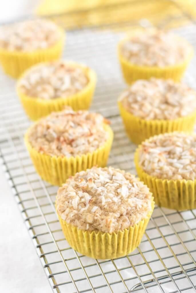 Coconut Pineapple Muffins   www.infinebalance.com #gluten-free #vegan