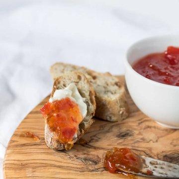 Red Pepper and Chili Jam | www.infinebalance.com #recipe