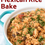 mexican rice bank with black beans