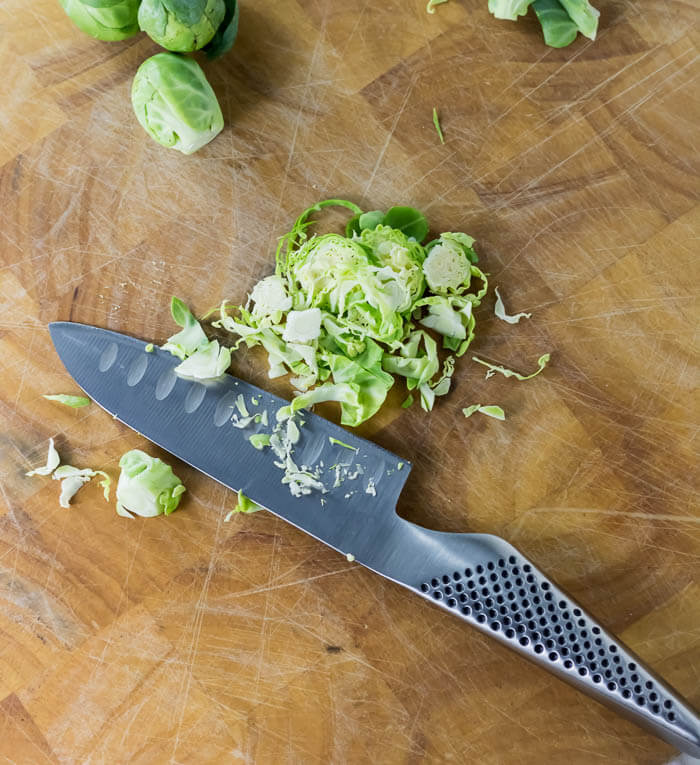 Shaved Shaved Brussels Sprout and Cranberry Salad | www.infinebalance.comHoliday Shaved Brussels Sprout Salad | www.infinebalance.com