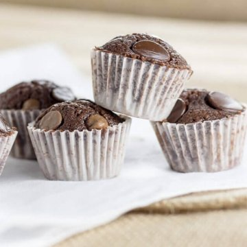 mini nutella brownies