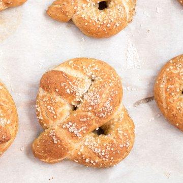 Soft Whole Wheat Pretzels - an easy vegan recipe by www.infinebalance.com