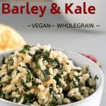 barley and kale with lemon