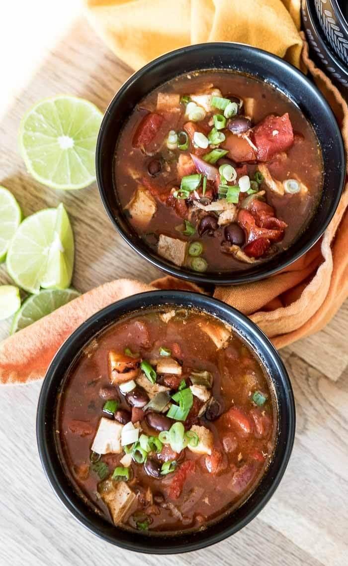 Spicy Turkey Chili   www.infinebalance.com leftoverr in soup recipe