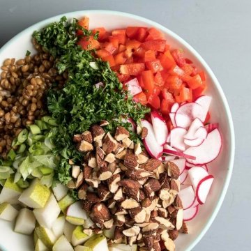 Wheat Berry Lunch Bowl | the infinebalance food blog