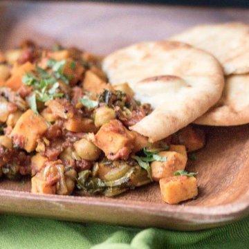 sweet potatoe and chickpea currye food blog