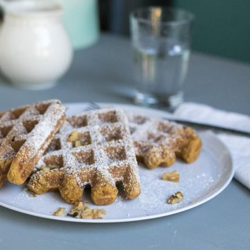 Vegan Pumpkin Pie Waffles | the infinebalance food blog