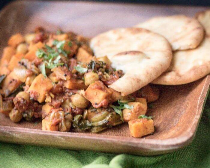 sweet potatoe and chickpea curry