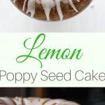 buttermilk lemon poppy seed cake with lemon frosting