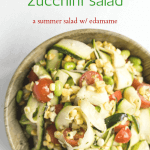 Sweet Corn and Zucchini Salad | The infinebalance Food blog - summer dinner salad with sweet honey and lime dressing
