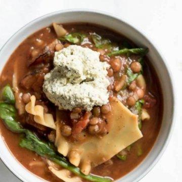 Vegan Lasagna Soup | The infinebalance Food Blog