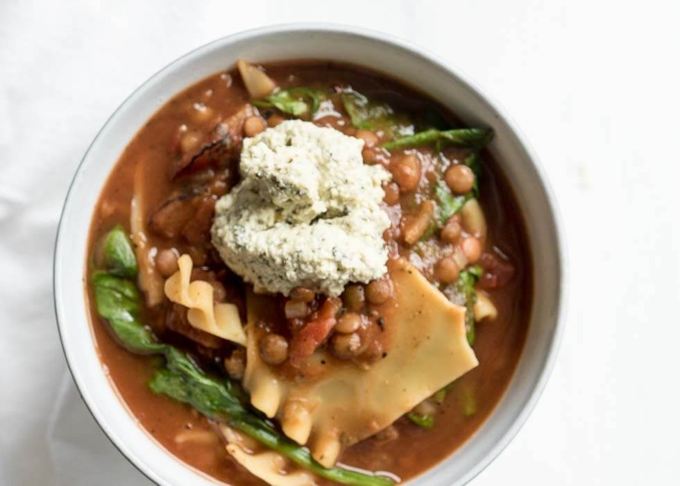 Vegan Lasagna Soup | The infinebalance Food Blog