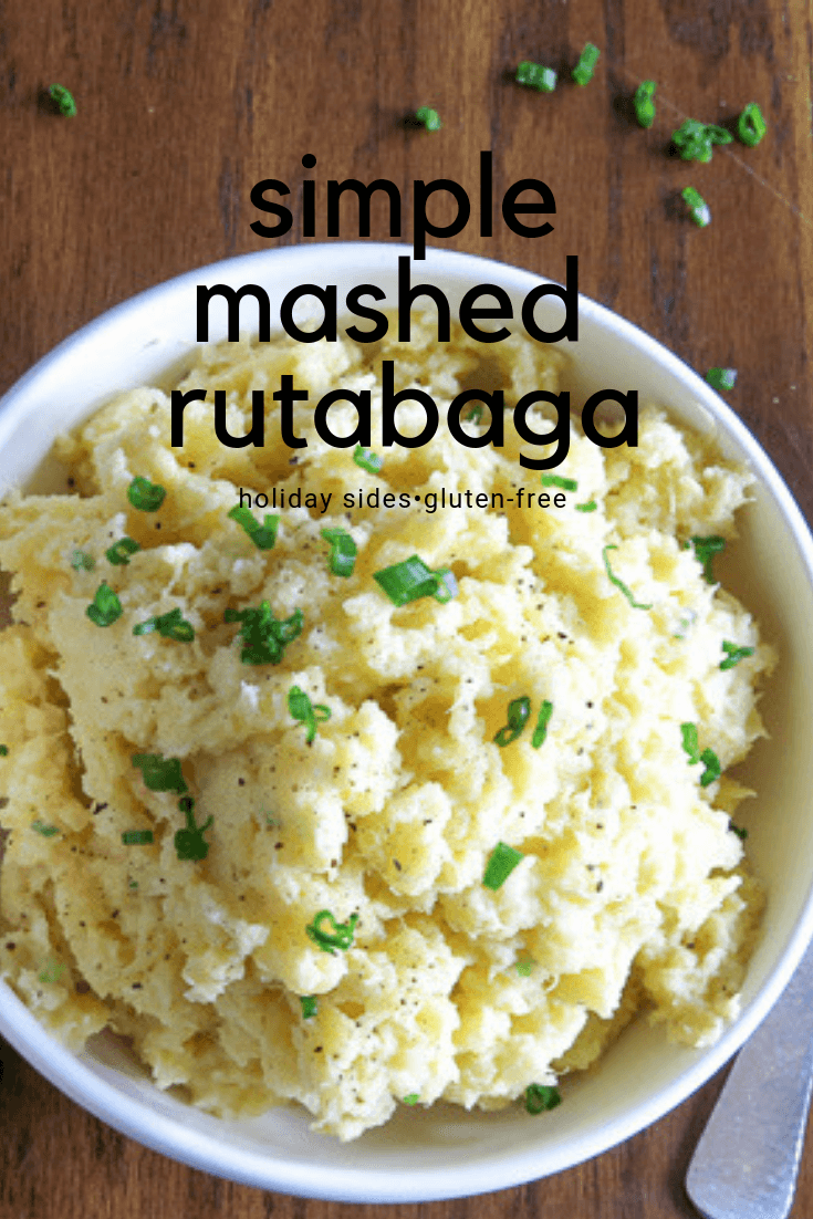 simple mashed rutabaga with chives
