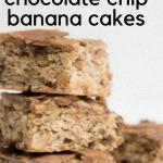 Peanut-Butter Chocolate Chip Banana Cakes | the infinebalance food blog